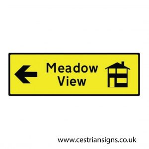 New build directional sign Left