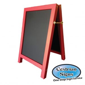 Premium Red Chalk A-board Pavement Sign