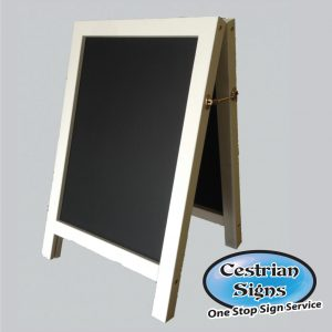 Premium White Chalk A-board Pavement Sign