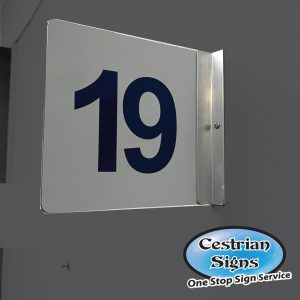 Projecting-room-number-sign
