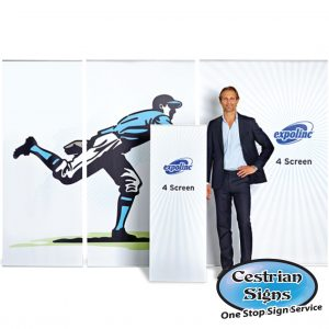 4-Screen Banner System By Expolinc