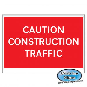 Caution-construction-traffic-stanchion-sign-600mm-x-450mm