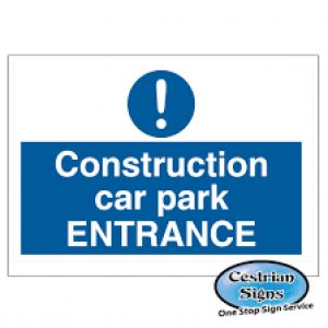 Construction-site-car-park-entrance-signs