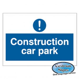 Construction-site-car-park-signs