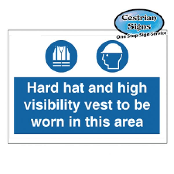 Hard-Hat-And-High-Visibility-Vest-To-Be-Worn-Signs