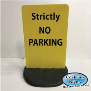 No Parking Freestanding Sign