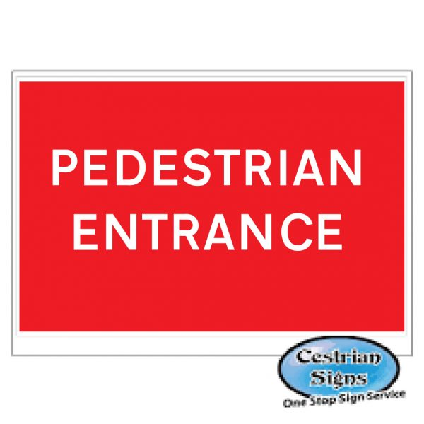 Pedestrian-Entrance-Replacement-Stanshion-Sign-600mm-X-450mm