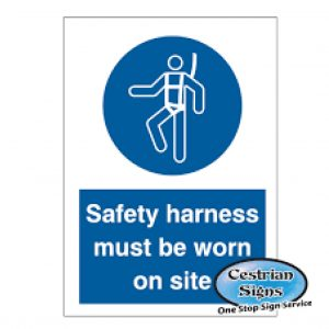 Safety-harness-must-be-worn-signs