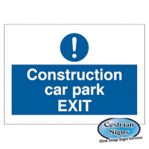 Construction-site-car-park-exit-signs