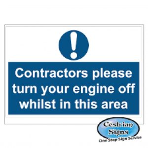 Contractors-please-turn-off-engine-stanchion-signs-600mm-x-450mm