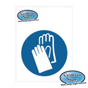 Hand-protection-must-be-worn-logo-sign
