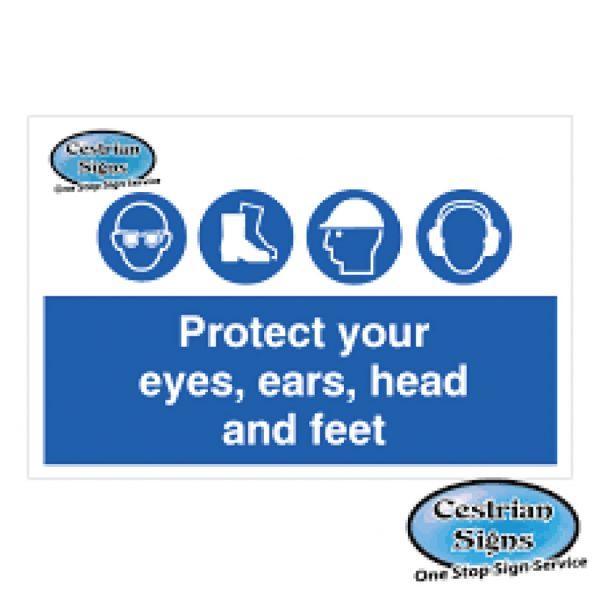 Protect Your Eyes Ears Head And Feet Signs
