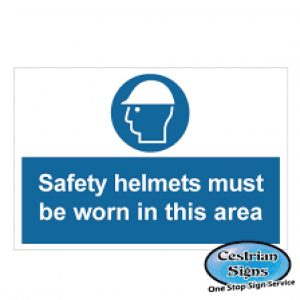 Safety-Helmets-Must-Be-Worn-In-Area-Signage