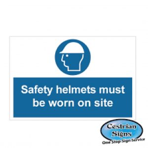 Safety-Helmets-Must-Be-Worn-On-Site-Sign