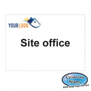 Construction site site office compound sign 600mm x 400mm