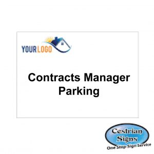 Contracts-manager-parking-sign-600mm-x-400mm