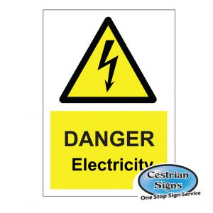 Danger electricity signs