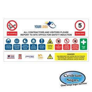 Multi Construction Site Entrance Safety Sign