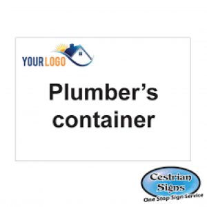 Plumbers-container-compound-sign-600mm-x-400mm