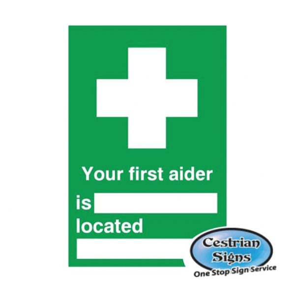 Your first aider signs 200mm