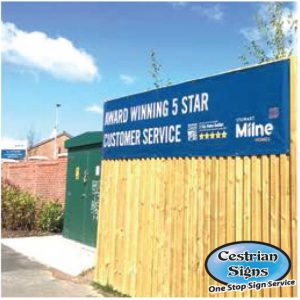 Building site fence banner