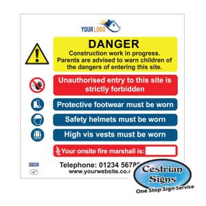 Danger-Construction-Work-In-Progress-Site-Entrance-Sign