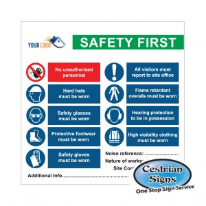 Safety-First-Site-Entrance-Sign