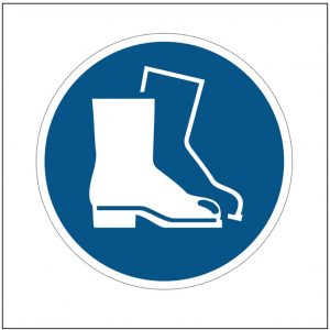 Safety Footwear Must Be Worn Logo