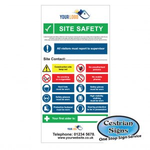 Site Safety Multi Entrance Sign