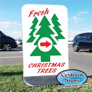 Christmas Trees for sale free standing sign small