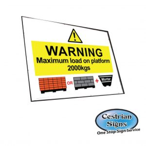 Maximum load on platform signs