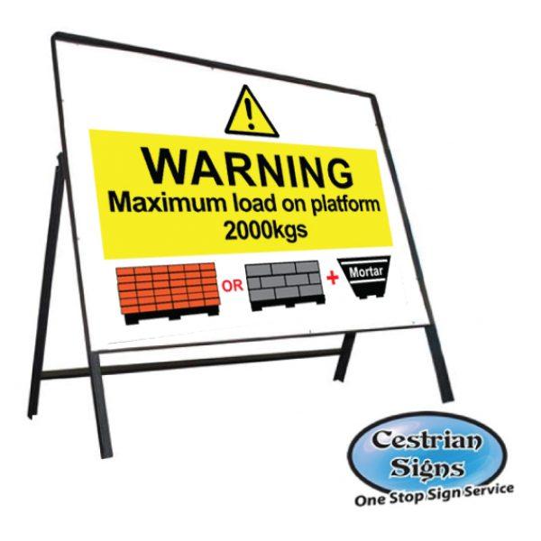 max-load-on-platform-stanchion-sign