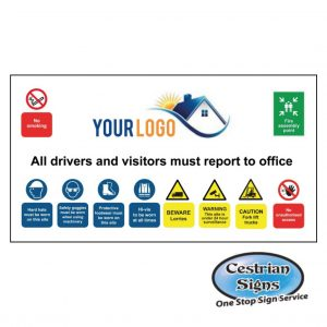 Multi Builders Yard Entrance safety sign
