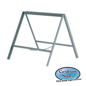 double-sided-metal-stanchion-sign-frame