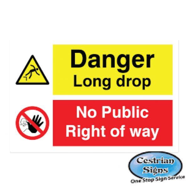 Danger-Long-Drop-Signs-600mm-X-400mm