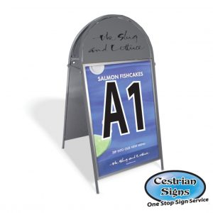 Booster A-Board Sign A1 Dark Grey