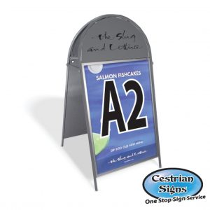 Booster A-Board Sign A2 Dark Grey