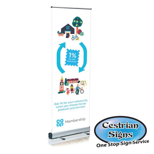 Budget Pull up Poster Display Stand