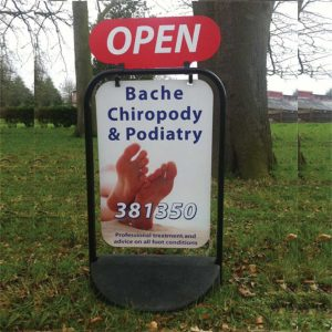 Chiropody Pavement Swing Sign