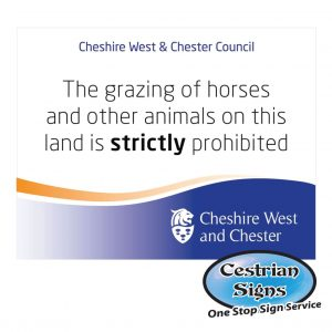 No Horse Grazing Sign