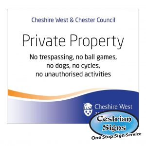 School Private Property Signs