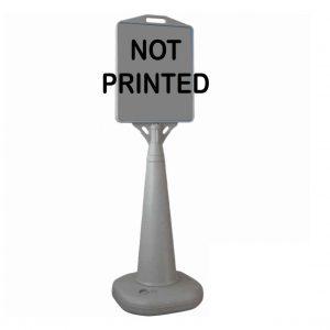 water based pyramid sign not printed