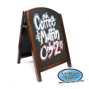 Chalk A-Board Sign small in Wood