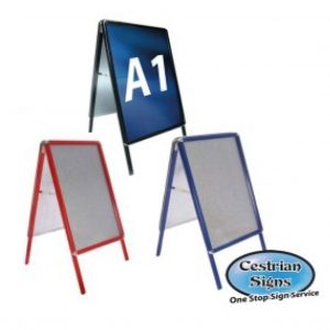 Coloured Aluminium A-Boards Pavement Signs