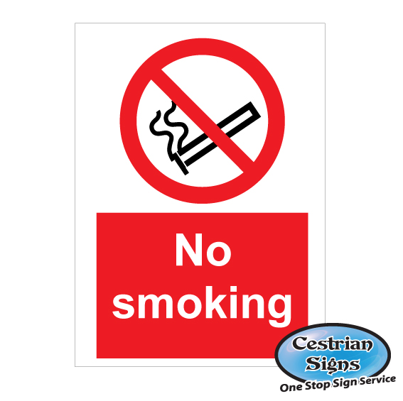 NO SMOKING PROHIBITION SAFETY SIGNS