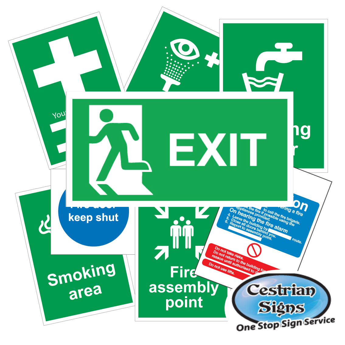 First Aid and Fire Safety Signs