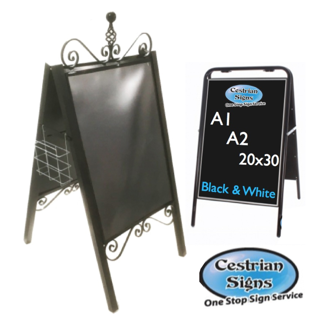 Metal A-Board Pavement Signs