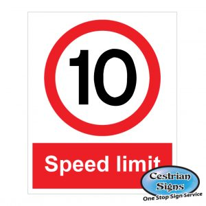 10-mph-site-speed-limit sign