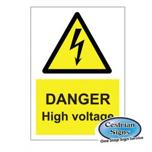 Constructon Site Danger Electricity Safety Signs
