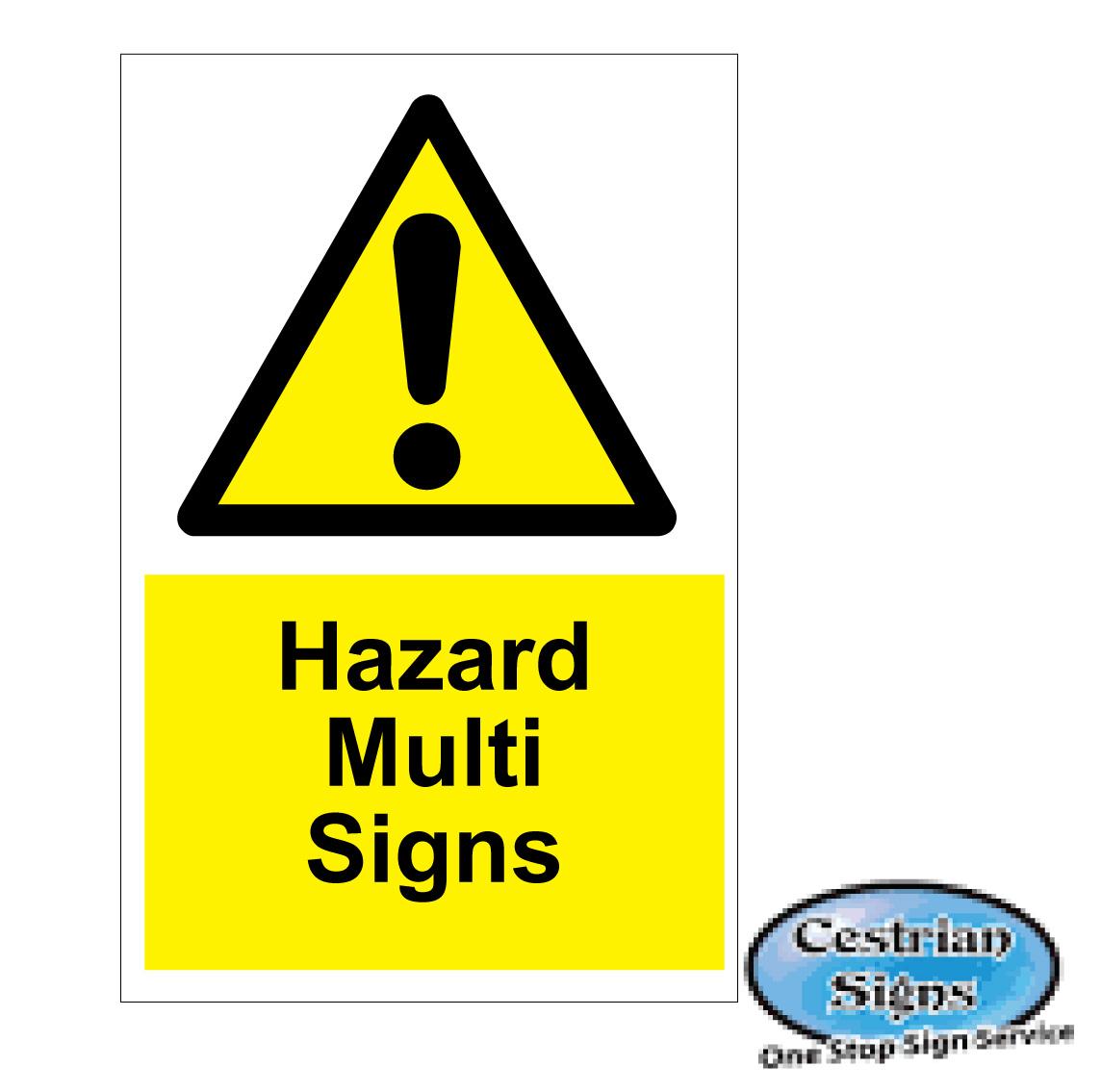 Hazard Multi Safety Signs